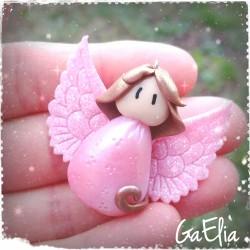 Petit Ange Rose nacré et...