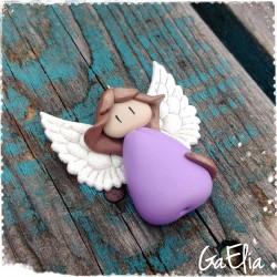 Petit Ange Violet et blanc...