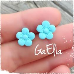 Boucles d'oreilles fleurs -...
