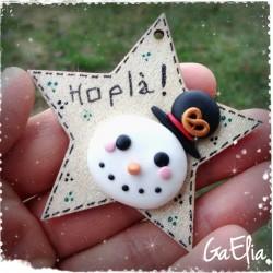 Bonhomme de neige fimo -...