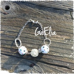 Bracelet métal - perles...