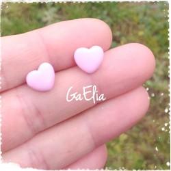 Boucles d'oreilles mini coeurs